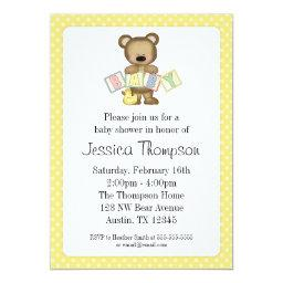 Yellow Teddy Bear Blocks