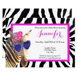 Zebra jungle animal fashion glamour baby shower