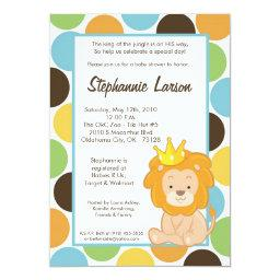 Boy King Of The Jungle Baby Shower Invitation