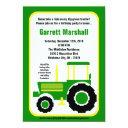 John Green Farm Tractor Birthday Invitation