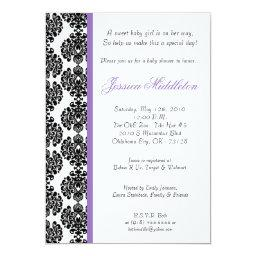 Purple Damask Lace Baby Shower