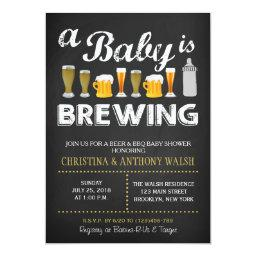 A Baby is Brewing  Chalk BBQ