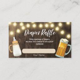 A Baby Is Brewing Baby Shower Diaper Raffle Invitations