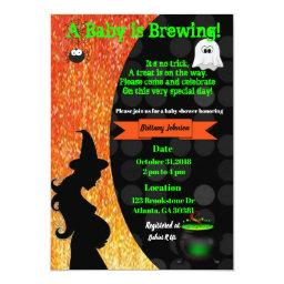 A Baby is Brewing! Halloween Baby Shower Invite