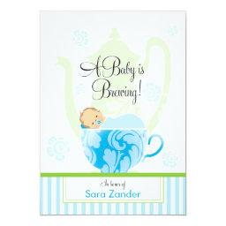 A Baby Shower Tea Party | Boy Invitations