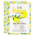 A Little Lemon On The Way Fresh Yellow Baby Shower Invitation