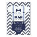 A Little Man Baby Shower Invitations, Boy Clothes Invitations