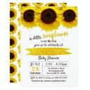 A Little Sunflower Is On The Way! Baby Shower Invitation