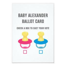 A PACIFIER REVEAL VOTING BALLOT