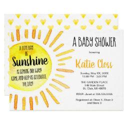 A Ray Of Sunshine - Baby Shower