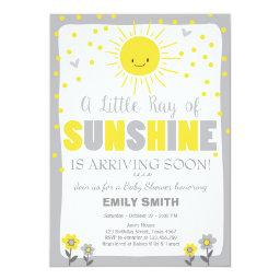 A Ray Of Sunshine Baby Shower  Neutral