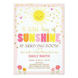 A Ray Of Sunshine Baby Shower  Pink Girl