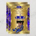 A Very Royal Prince Baby Shower Ethnic Invitation