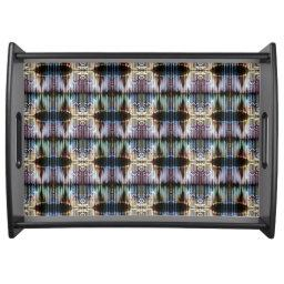 Abstract Multicolor Serving Tray