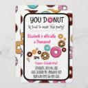 Adoption Party Modern Pink Donut Party Invitation