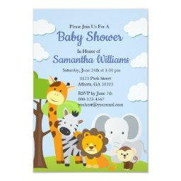Adorable Animal Friends Baby Shower