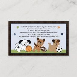 Adorable Bow Wow Puppy Sport Book Request Invitations