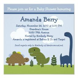 Adorable Dinosaur/Dino Baby Shower