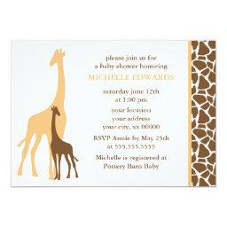 Adorable Giraffes Baby Shower
