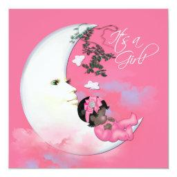 Adorable Pink Moon Baby Girl Shower