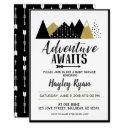 Adventure Awaits Arrow Mountain Baby Shower Invite