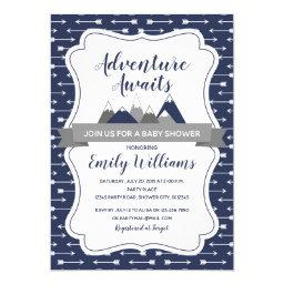 Adventure Awaits Baby Shower Invitation For Boys