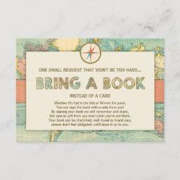 Adventure Begins Baby Shower Bring A Book Invitationss