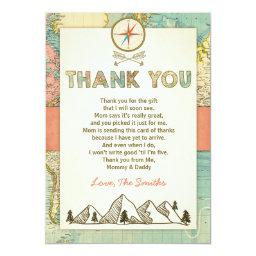 Adventure thank you  Travel Map Baby Birthday