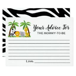 Advice for Mommy-to-Be | Jungle Baby Shower