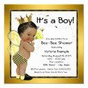 African American Boy Bee Baby Shower