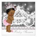 African American Ethnic Princess Baby Shower Invitations