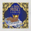 African American Royal Prince Baby Shower Invitation