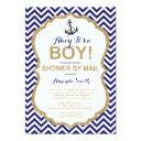 Ahoy It's A Boy! Nautical Baby Shower By Mail Invitation