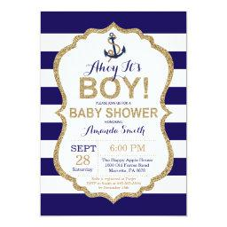Ahoy it's a Boy! Nautical Baby Shower