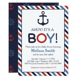 Nautical baby shower invitations babyshowerinvitations4u ahoy its a boy nautical baby shower filmwisefo Images