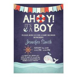 Ahoy It's A Boy Shower  Ocean Nautical