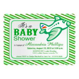 Airplane Baby Shower | Mint Green Invitations
