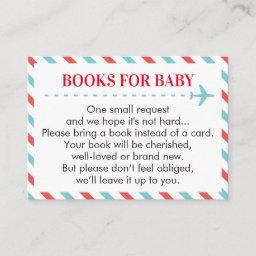Airplane Travel Books For Baby Book Request Invitations