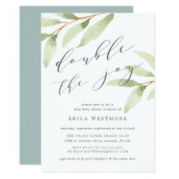 Airy Botanical Twin Baby Shower