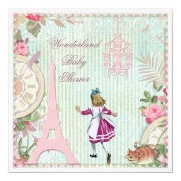 Alice in Paris Shabby Chic Wonderland Baby Shower