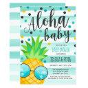 Aloha Baby Shower Invitation Pineapple Baby Shower