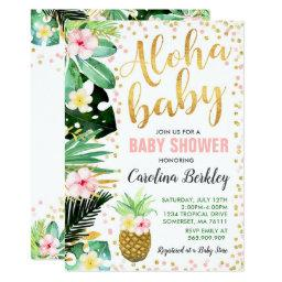 Aloha Baby Shower Invitation Tropical Baby Shower