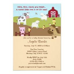 Animal Acres Farm Animal Baby Shower NEUTRAL AAK