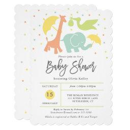 Animal Baby Shower, Gender Neutral