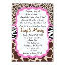 Animal Print Baby Shower Invitation