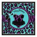 Animal Print Rock Star Tutu Baby Shower Invitation