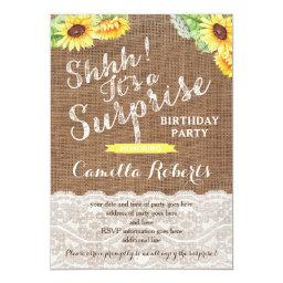 Any age surprise birthday party