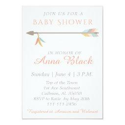 Arrow and Feather Baby Shower