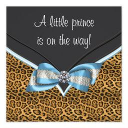 Baby Blue Cheetah Prince Baby Shower