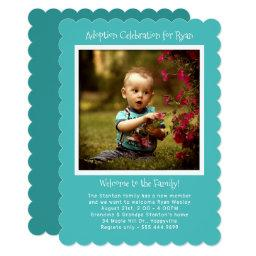 Baby Boy Adoption Party Photo  Template